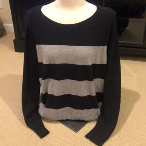 Cashmere Grey and Black Sweater
